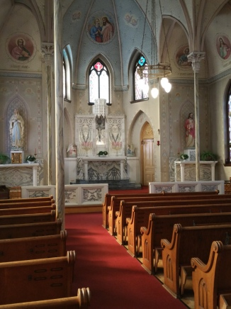 Interior of St Peter's Landmark Church in The Dalles